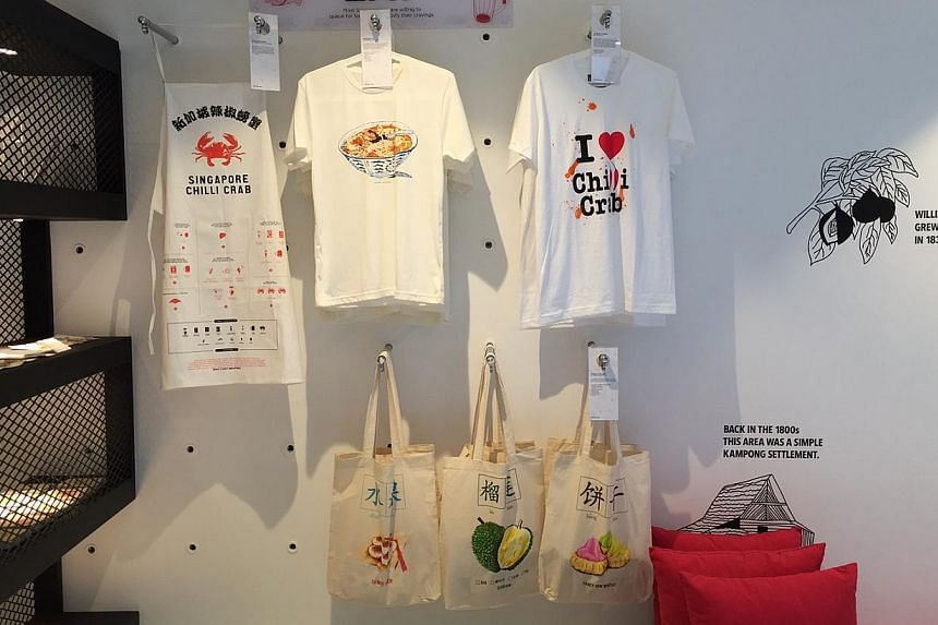 Singapore souvenirs available at the new visitor centre. -- ST PHOTO: JAMIE KOH
