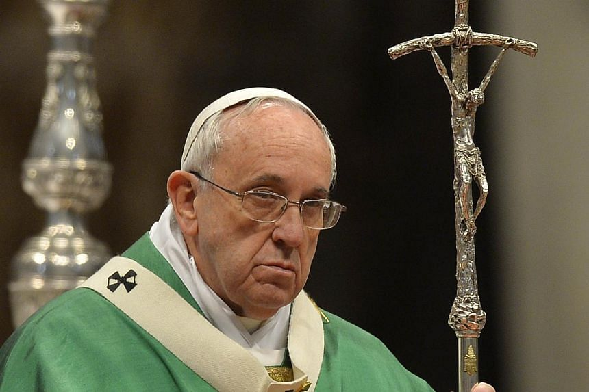 Pope Francis expressed deep sadness for the beheading of 21 Egyptian Coptic Christians in Libya, departing from the script of an address on Monday, Feb 16, 2015, to emphasise the unity of all Christians regardless of the sect they follow. -- PHOTO: A