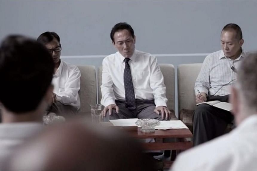 Theatre veteran Lim Kay Tong tackles the tough role of Singapore's ex-Prime Minister Lee Kuan Yew in the upcoming movie 1965. -- PHOTO: SCREENGRAB FROM YOUTUBE