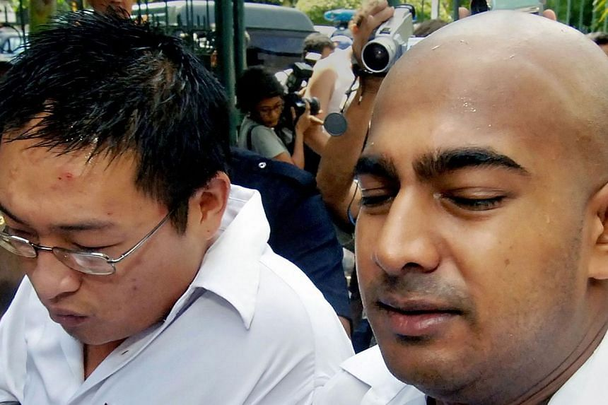 Andrew Chan (left) and Myuran Sukumaran were sentenced to death in 2006 over their roles as ringleaders of a plot to smuggle heroin from Indonesia's Bali island to Australia. -- PHOTO: AFP