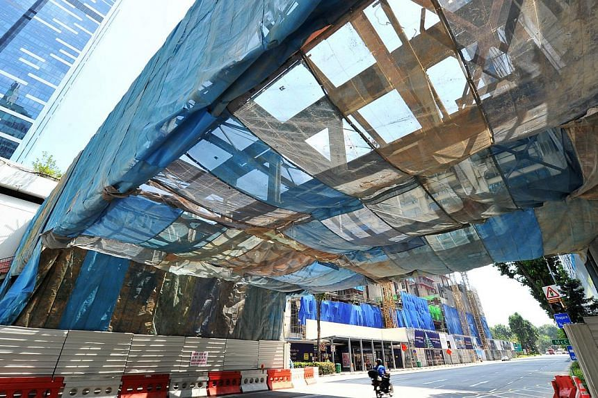 The Golden Bridge in Shenton Way will be demolished during the Chinese New Year weekend.