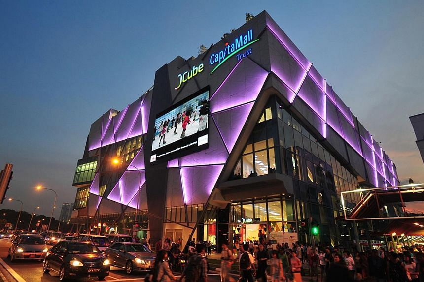 JCube shopping mall at Jurong East, developed by CapitaLand. The mainboard-listed company announced on Tuesday a 187 per cent jump in fourth-quarter profit, thanks to higher revaluation gains from investment properties and lower portfolio losses. --