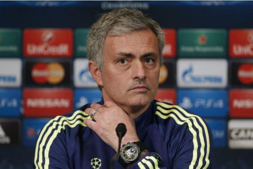 Chelsea coach Jose Mourinho attends a news conference at the Parc des Princes stadium in Paris ahead of their Champions League soccer match against Paris St Germain (PSG), on Feb 16, 2015. Jose Mourinho said on Monday that Paris St Germain would