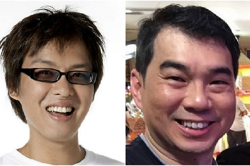 An online spat between former radio DJ Glenn Ong (left) and TV producer Nicholas Lee has been making its rounds in cyberspace. -- PHOTOS: NICHOLAS LEE/INSTAGRAM, MEDIACORP RADIO