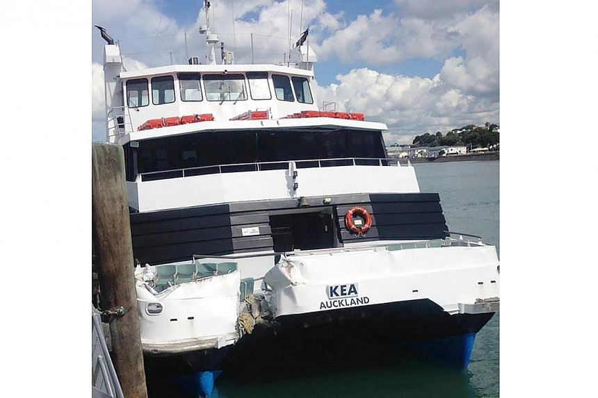 Twenty people are believed to be injured after a ferry crashed into a wharf at Devonport on Auckland's North Shore on Tuesday. The cause of the collision is not known but early indications suggest it was mechanical failure. -- PHOTO: TWITTER / JOSEPH