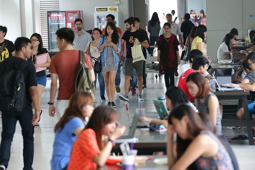 The new cohort of freshmen at Nanyang Technological University (NTU) will have at least five more academic courses to choose from. -- PHOTO: ST FILE