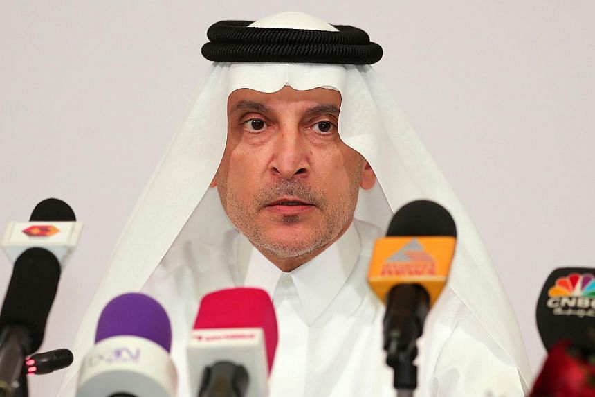 The CEO of state-owned flag carrier Qatar Airways, Akbar al-Baker speaking during a press conference launching the latest marketing campaign involving FC Barcelona's football club and Qatar Airways, on Feb 4, 2015, in Doha, Qatar.Akbar al-Baker
