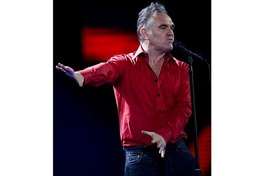 British singer Morrissey performing at the 53nd Vina del Mar International Song Festival on Feb 24, 2012. He cancelled half of his US tour last year due to illness. -- PHOTO: AFP