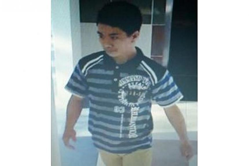Police are looking for this man to assist with investigations into a case of outrage of modesty at Blk 109, Serangoon North Avenue 1, on Feb 16, 2015. -- PHOTO: SINGAPORE POLICE FORCE