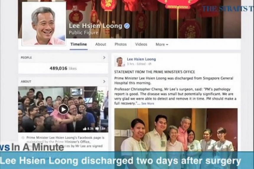 In today's News In A Minute, we look at PM Lee Hsien Loong discharged from hospital two days after surgery to remove his prostate gland. -- SCREENGRAB FROM RAZORTV