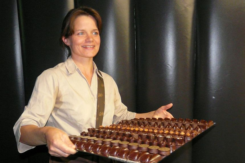 Cailler Nestle chocolate factory in Switzerland is a one-stop candy shop. -- PHOTO: UMA SHANKARI