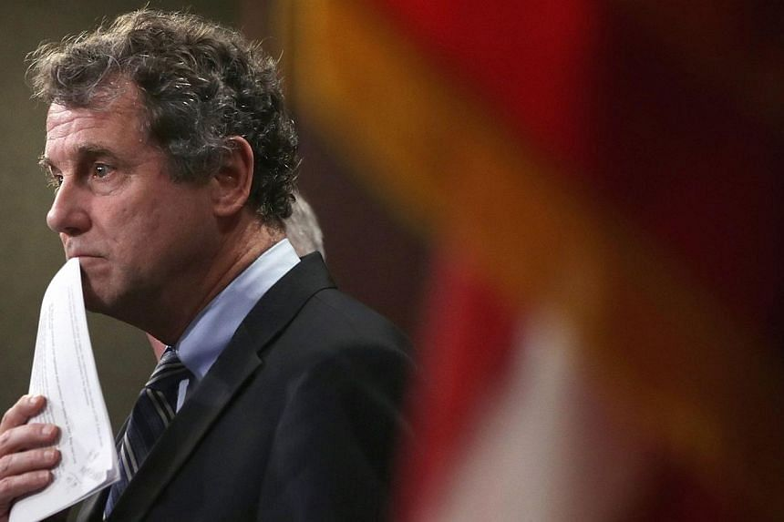 In an opinion article, Senators Sherrod Brown (seen above) and Jeff Sessions and Representatives Sandy Levin and Mo Brooks (who are among the Bills' sponsors) argued that the US' high trade deficits with China are caused by the Chinese government's a