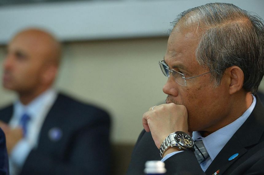 Singapore's Senior State Minister of State for Home Affairs Masagos Zulkifli participating in the White House Summit on Countering Violent Extremism at the State Department in Washington, DC on Feb 18, 2015. -- PHOTO: AFP