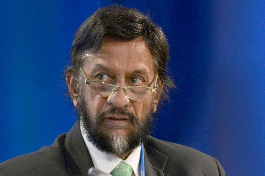 Rajendra Pachauri (pictured), chairman of the United Nation's Intergovernmental Panel on Climate Change, has been accused of sexually harassing a woman colleague at a New Delhi-based research institute headed by him. -- PHOTO: AFP