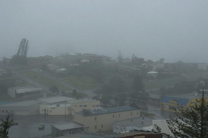 Driving rain and high winds from Cyclone Marcia hit Yeppoon, Queensland, Australia, on Feb 20 2015. The small town on the Capricorn Coast is bearing the brunt of the wild weather. According to media reports, Cyclone Marcia has been downgraded from Ca