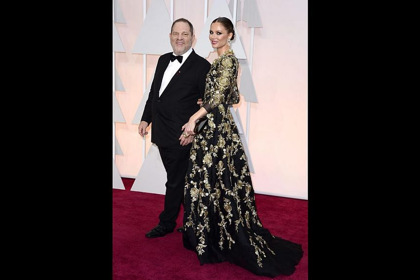 Harris joked about producer Weinstein's (above, with his wife Georgina Chapman) reputation for making or breaking projects in Hollywood. -- PHOTO: EUROPEAN PRESSPHOTO AGENCY