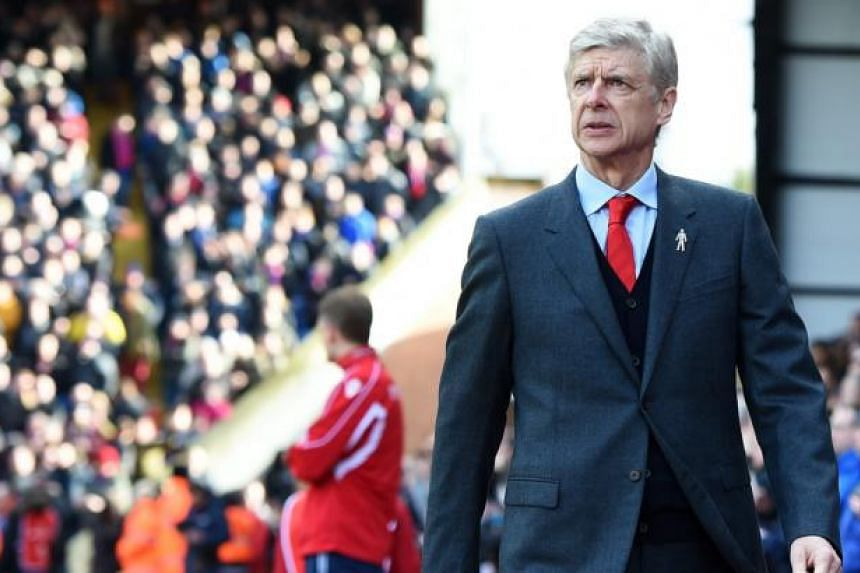 Arsenal manager Arsene Wenger prior to the English Premier League soccer match Crystal Palace v Arsenal at Selhurst Park in London, Britain, 21 Feb 2015. -- PHOTO: EPA
