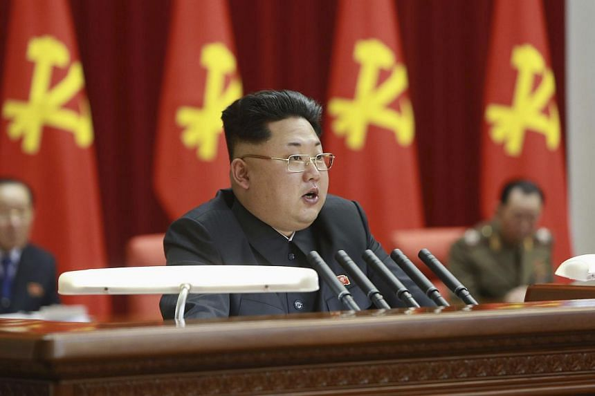 North Korean leader Kim Jong Un (centre) supervises an expanded meeting of the Political Bureau of the Central Committee of the Workers' Party of Korea in Pyongyang on Feb 18, 2015. The once powerful aunt of North Korean leader Kim Jong Un is still a