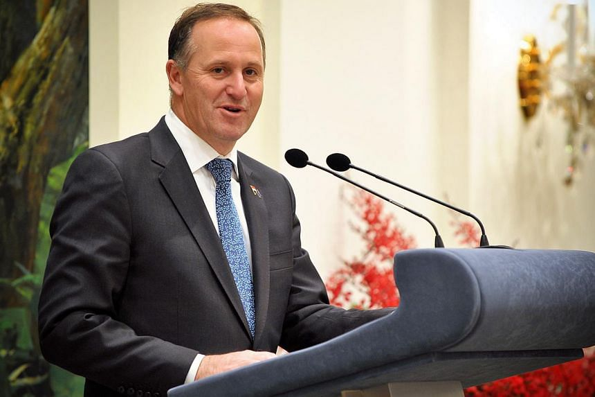 New Zealand Prime Minister John Key at the Istana on April 18, 2012.New Zealand will send troops to Iraq on a non-combat mission helping to boost the local military's capacity to fight the Islamic State in Iraq and Syria (ISIS) organisation, Pr