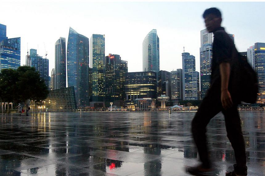 The skyline of the Singapore's Central Business District (CBD). -- PHOTO: BT FILE