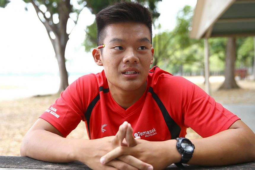 Temasek Polytechnic student Kian Wei Seetoh suffered from a fish bite that required 13 stitches after he fell into Bedok Reservoir while kayaking there in September last year. -- PHOTO: THE NEW PAPER