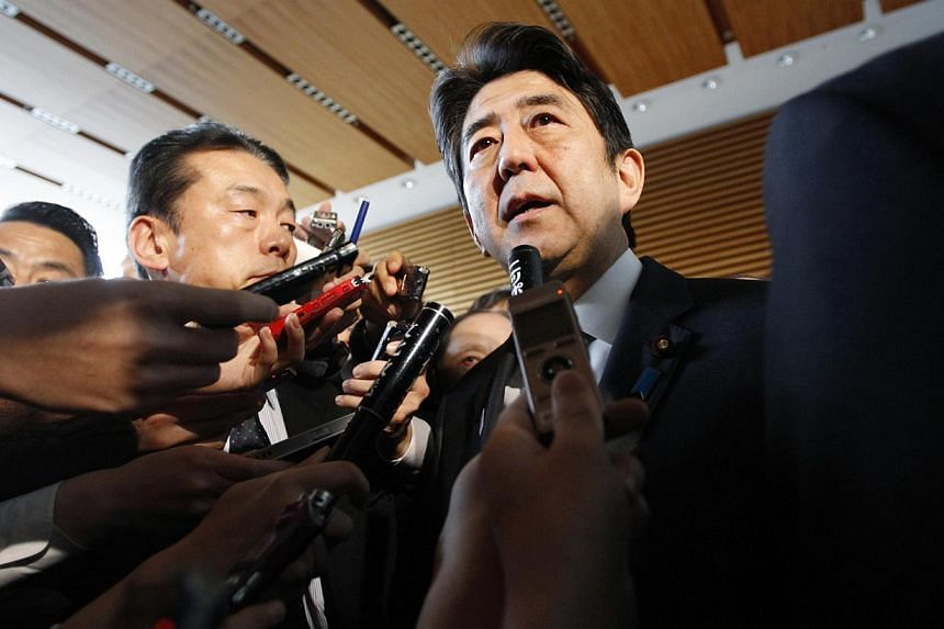 """Historical revisionism propelled by a right-leaning Japan, led by its prime minister Shinzo Abe, is precipitating a """"history war"""" in the 21st century. -- PHOTO: REUTERS"""