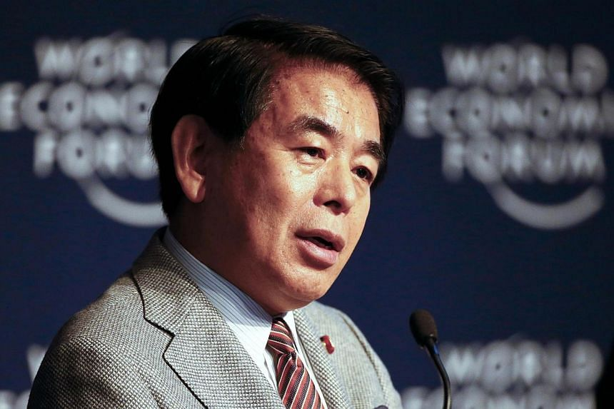 Japan's education minister Hakubun Shimomura (above) possibly received illegal funds, a weekly magazine said in a report to be published on Thursday, Feb 26, 2015, just days after farm minister Koya Nishikawa resigned over similar allegatio