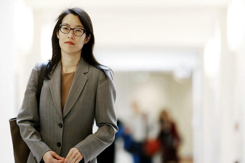Ellen Pao, who is at the centre of a gender discrimination trial against an iconic venture capital firm, walks to the courtroom before the start of her trial at San Francisco Superior Court in San Francisco, California onFeb 23, 2015. -- PHOTO:
