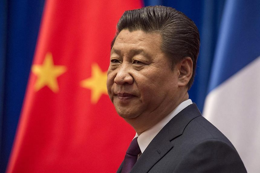 """Chinese state-run media gave wall-to-wall coverage Wednesday to President Xi Jinping's newly declared """"Four Comprehensives"""" political theory as he consolidates power and advances his own brand of Communist thought.-- PHOTO: REUTERS"""