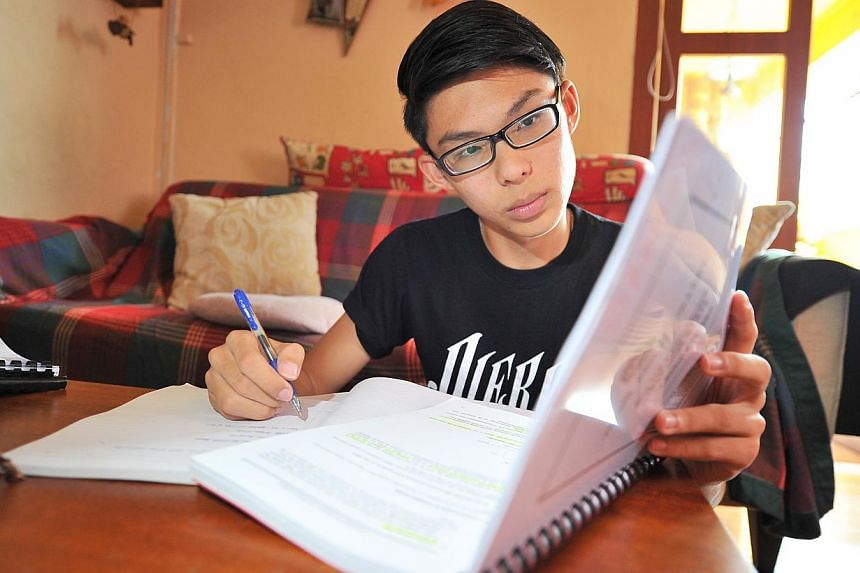 Zachary Branson, now in Yishun Junior College, revised for the O levels last year using 10-year-series books. But recent changes in national exams mean answers cannot simply be regurgitated.