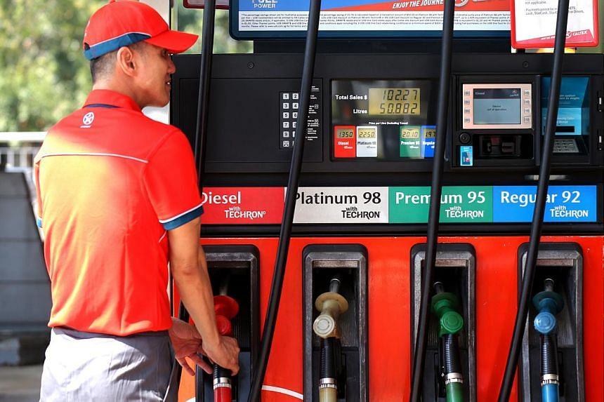 A Caltex petrol station in Lorong Chuan on Feb 25, 2015. -- ST PHOTO: ONG WEE JIN