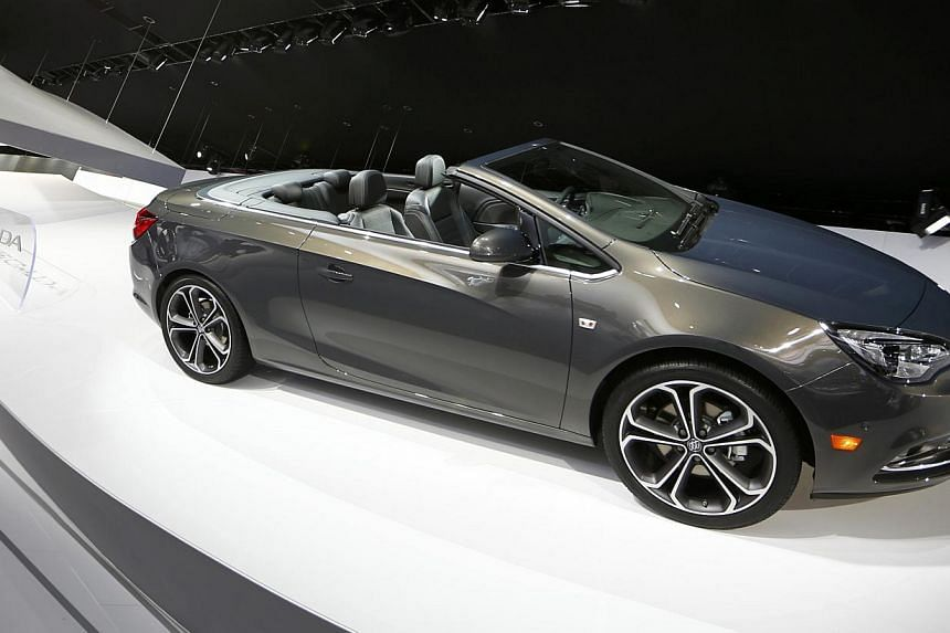 The 2016 Buick Cascada convertible is displayed at last month's North American International Auto Show in Detroit. On Tuesday, Buick became the first American brand ever to crack Consumer Reports top 10 brands. -- PHOTO: REUTERS