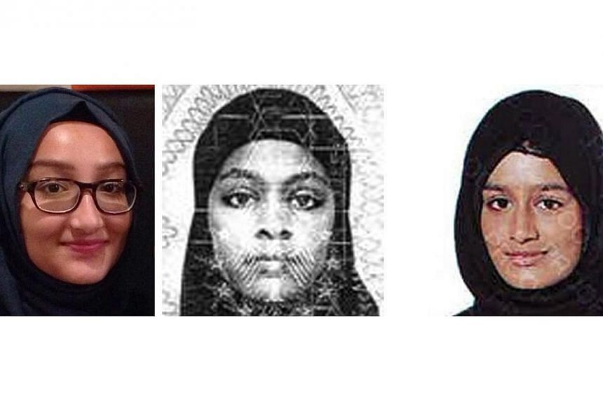 A handout combination photograph made available by the London Metropolitan Police Service Feb 21 2015 shows (from left) Kadiza Sultana, 16, Amira Abase, 15, and Shamima Begum, 15. The three schoolgirls are thought to be en route to Syria to join ISIS