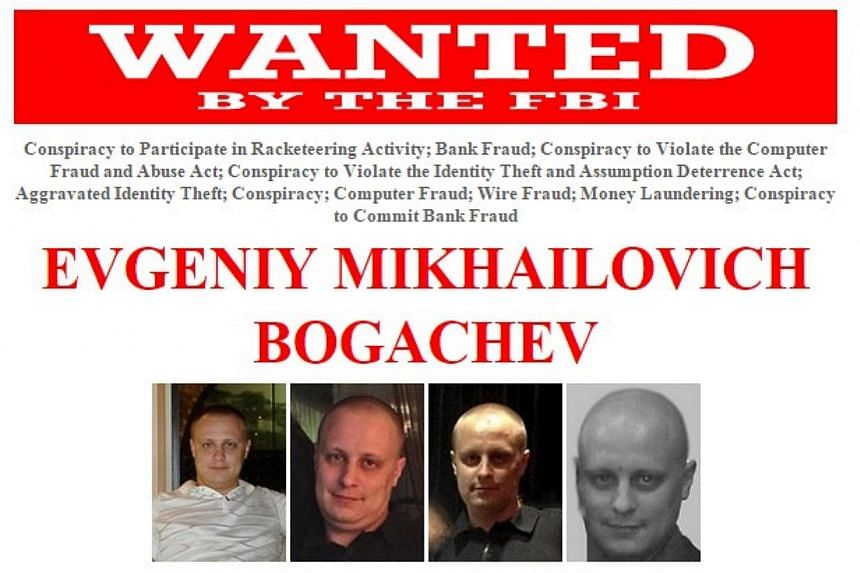 The United States on Tuesday offered a US$3 million (S$4 million) reward for information to apprehend a Russian national sought in a major hacking enterprise that stole some US$100 million. -- PHOTO: FBI.GOV