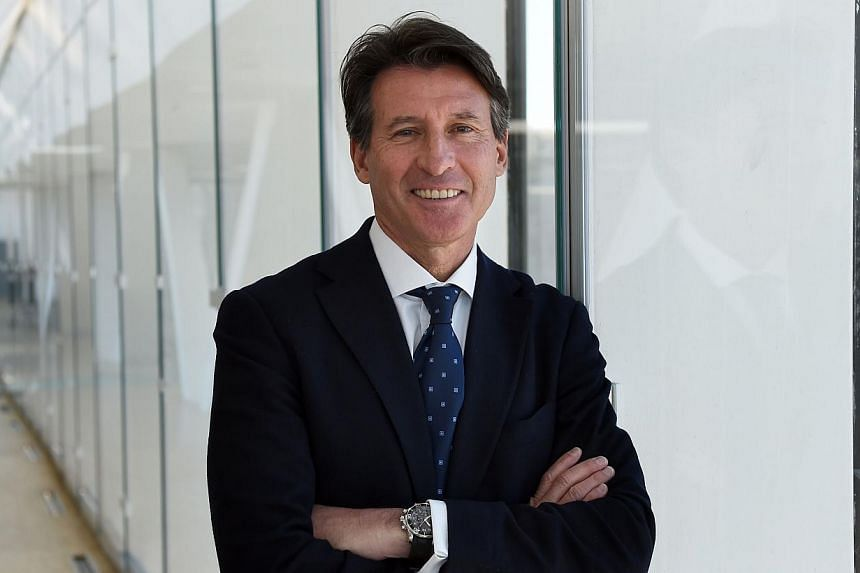 Britain's Sebastian Coe, double Olympic 1500m champion, and candidate for the succession of Senegalese Lamine Diack as President of the International Association of Athletics Federations (IAAF) poses, on Feb 25, 2015, at a villa along the Mediterrane
