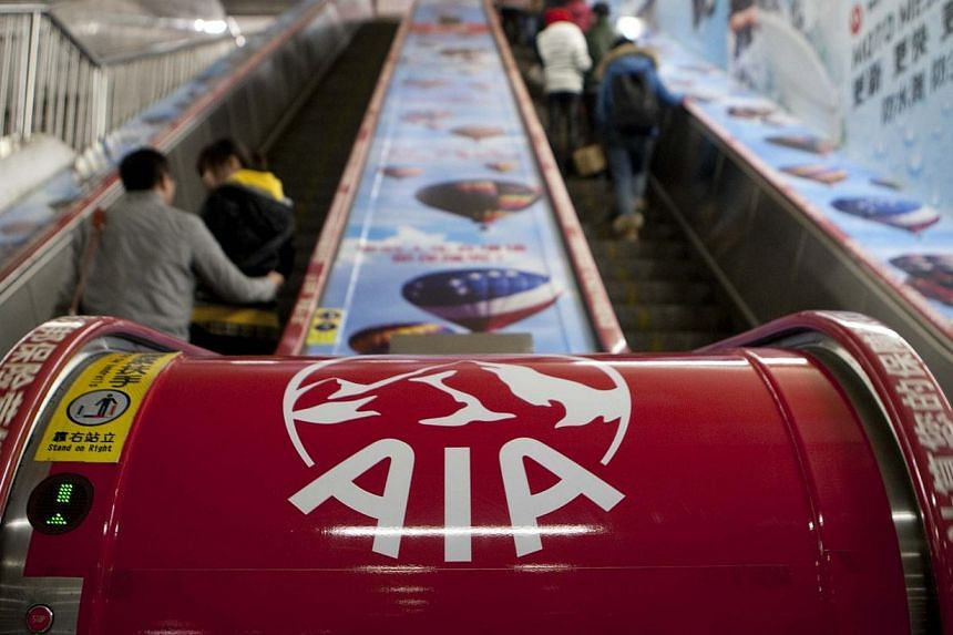 AIA's operating profit grew 38 per cent in China, the biggest rise among its markets, after it increased its salesforce of active new agents by 42 per cent. -- PHOTO: BLOOMBERG