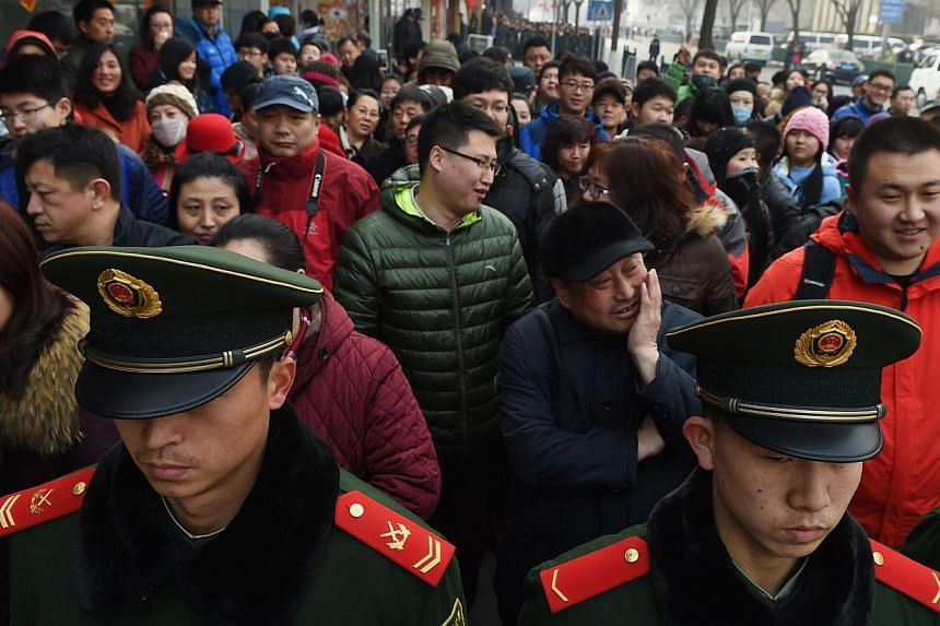 Thoughts will not be subject to prosecution under China's new definition of terrorism, state-run media said on Thursday, Feb 26, 2015. An initial draft of the communist nation's first anti-terrorism law had included thoughts along with speech and act