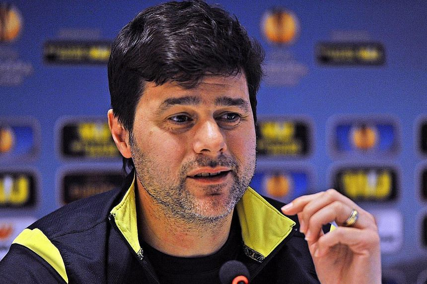 Tottenham Hotspur's Argentinian manager Mauricio Pochettino at a press conference in Florence, Italy on Feb 25, 2015. -- PHOTO: EPA