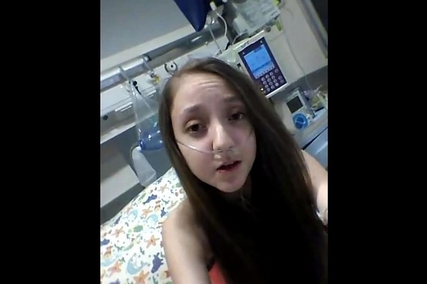 Valentina Maureira, 14, in a screenshot from a video on YouTube.  A 14-year old Chilean girl who suffers from cystic fibrosis has made an emotional plea to be allowed to die, filming herself asking President Michelle Bachelet to authorise h