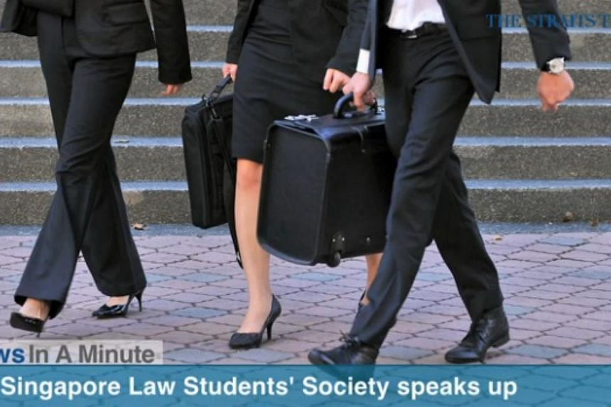 UK Singapore Law Students' society says law firms should look beyond a graduate's school when hiring. -- SCREENGRAB FROM RAZORTV