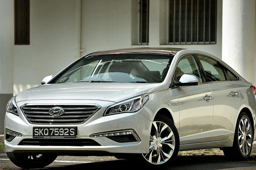 The Sonata is not as luxurious inside as the Camry, but it offers just as many features (below).