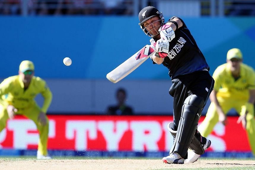 New Zealand's Brendon McCullum plays a shot during the Pool A 2015 Cricket World Cup match between New Zealand and Australia at Eden Park in Auckland on Feb 28, 2015. -- PHOTO: AFP