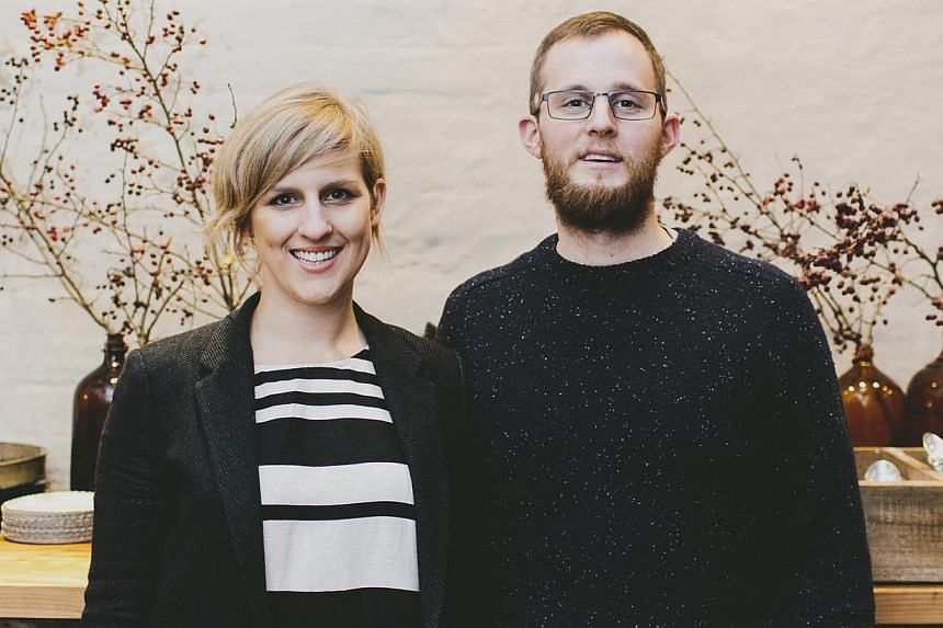 Tasmanians Chloe Proud (left) and Iain Todd (right) run a food empire, which includes a restaurant, a frozen yogurt shop, an outlet that sells house-made condiments and salads, and a bar in the basement. --PHOTO: ETHOS EAT DRINK