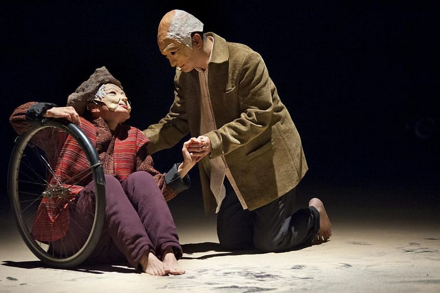 Hong Kong's The Nonsensemakers brought to loving life a sweet, if moralistic, production based on a true story about a deeply filial man who built a tricycle with a special back seat to take his 99-year-old mother on a trip around China. -- PHOTO: ES