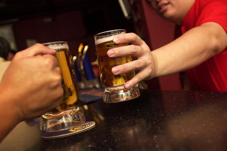 The National Addictions Management Service (NAMS) deals with 10 to 15 cases of problem drinking among youth aged 19 or below each year. -- PHOTO: THE NEW PAPER