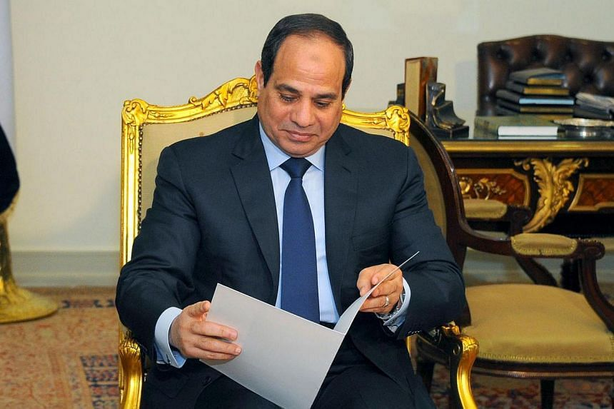Egyptian President Abdel Fattah al-Sisi called on the government on Sunday, March 1, 2015, to amend laws related to a long-awaited March-April parliamentary poll within one month, after a court ruled that an article in the legislation was unconstitut
