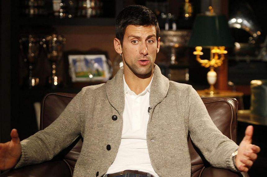 Novak Djokovic talking during an interview in Belgrade on March 1, 2015. -- PHOTO: REUTERS