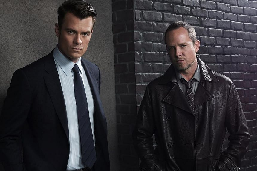 Dean Winters plays a hard-boiled cop in new TV comedy-drama Battle Creek with Josh Duhamel (left) as his partner. -- PHOTO: FOX