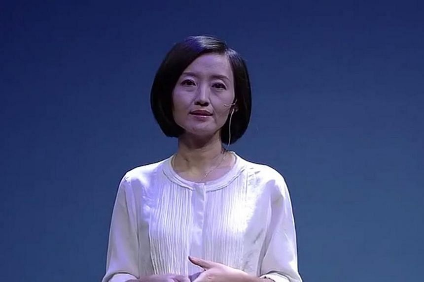 Former television presenter in China, Chai Jing, 39. She claims that an estimated half a million people die prematurely in China every year because of air pollution, citing former health minister Chen Zhu. -- SCREENGRAB: YOUTUBE / LINGHEIN HO