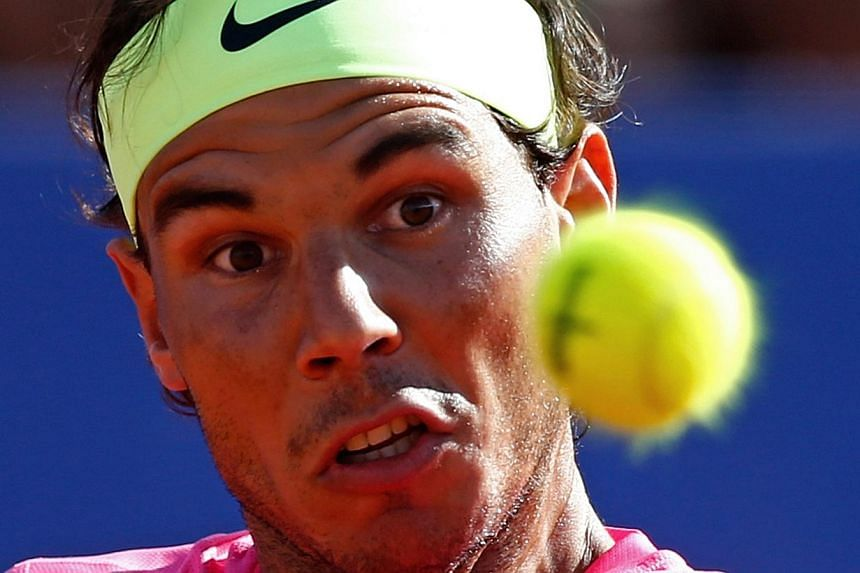 Spain's Rafael Nadal plays a shot at the ATP Argentina Open in Buenos Aires.-- PHOTO: REUTERS